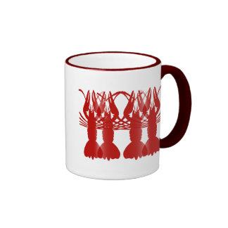 Pares de los cangrejos taza de dos colores