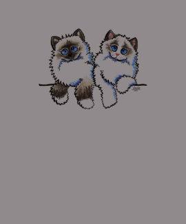 Pares de los gatos de Ragdoll de Apagado-Correo Ar Camisetas