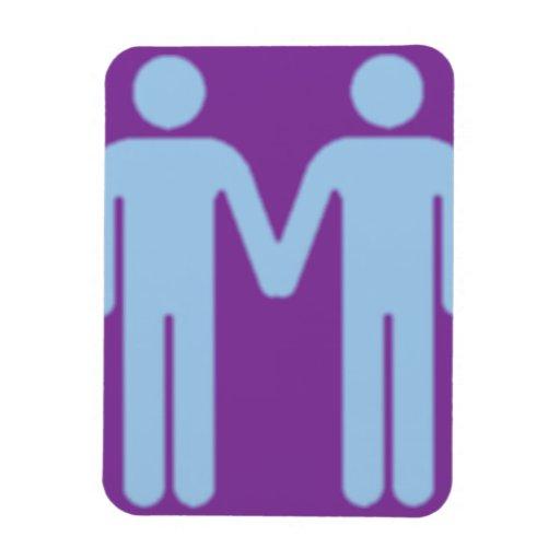 Pares de los hombres gay iman flexible