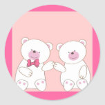 Pares de los osos pegatina redonda
