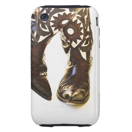 Pares de los zapatos 2 del vaquero iPhone 3 tough funda