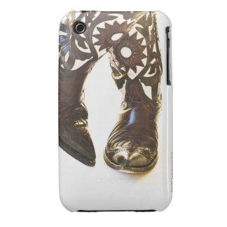 Pares de los zapatos 2 del vaquero iPhone 3 fundas