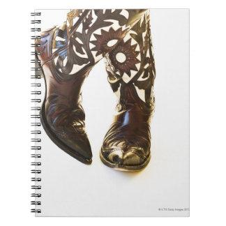 Pares de los zapatos 2 del vaquero spiral notebooks