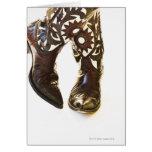 Pares de los zapatos 2 del vaquero tarjeta