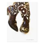 Pares de los zapatos 2 del vaquero tarjetas postales