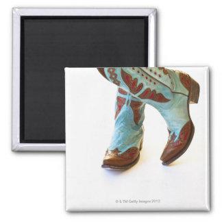 Pares de los zapatos 3 del vaquero imán de nevera
