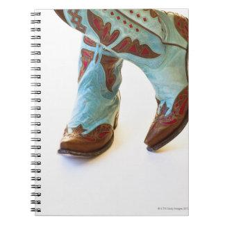 Pares de los zapatos 3 del vaquero libreta espiral