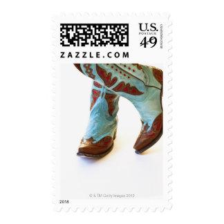 Pares de los zapatos 3 del vaquero sellos