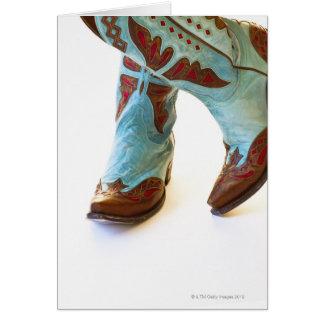 Pares de los zapatos 3 del vaquero tarjeta de felicitación