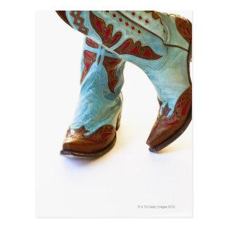 Pares de los zapatos 3 del vaquero postal