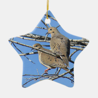 Pares de luto del pájaro de la paloma ornamentos para reyes magos