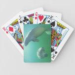 Pares de manatees de la Florida que nadan Baraja Cartas De Poker
