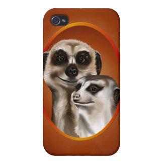 Pares de Meerkat iPhone 4 Coberturas