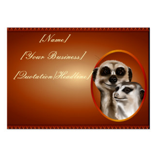 Pares de Meerkat profilecard_chubby_horizontal.,… Tarjetas De Visita Grandes