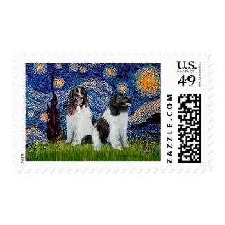 Pares de Newfie Landseer - noche estrellada Sellos