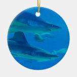 Pares de ornamento de los tiburones ornamento para reyes magos