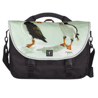 Pares de pájaros antárticos del frailecillo bolsas para portátil