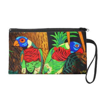 Pares de Parakeets coloridos