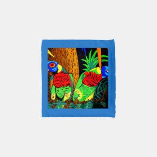 Pares de Parakeets coloridos Bolsa Reutilizable