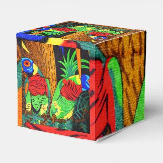 Pares de Parakeets coloridos Caja Para Regalos
