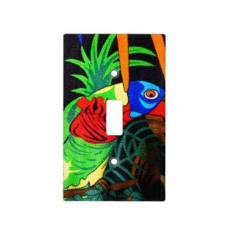 Pares de Parakeets coloridos Cubiertas Para Interruptor