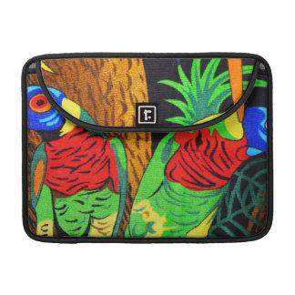 Pares de Parakeets coloridos Funda Macbook Pro