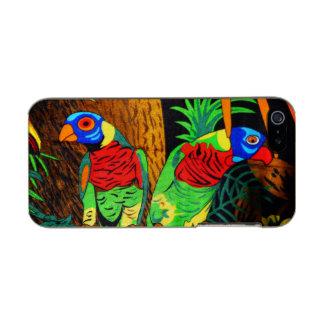 Pares de Parakeets coloridos Funda Para iPhone 5 Incipio Feather Shine