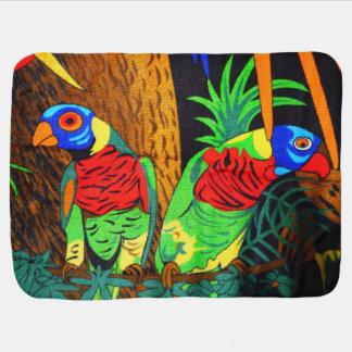 Pares de Parakeets coloridos Mantitas Para Bebé