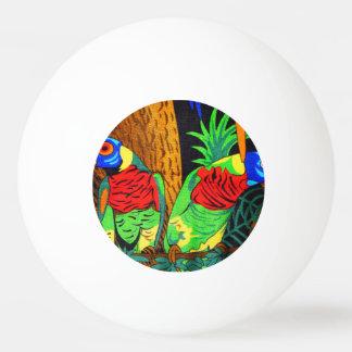 Pares de Parakeets coloridos Pelota De Tenis De Mesa