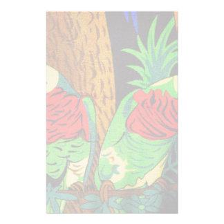 Pares de Parakeets coloridos Personalized Stationery