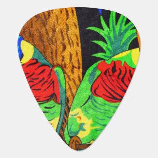Pares de Parakeets coloridos Plumilla De Guitarra