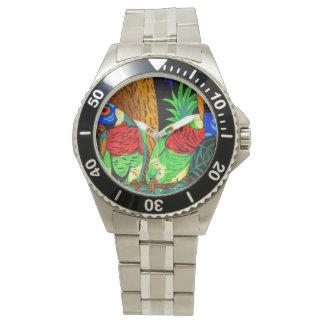 Pares de Parakeets coloridos Relojes De Pulsera