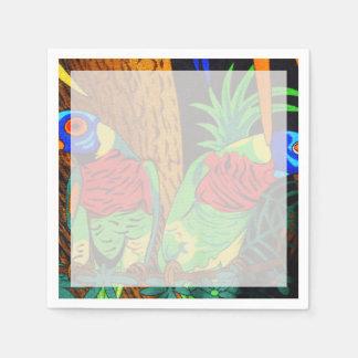 Pares de Parakeets coloridos Servilleta De Papel