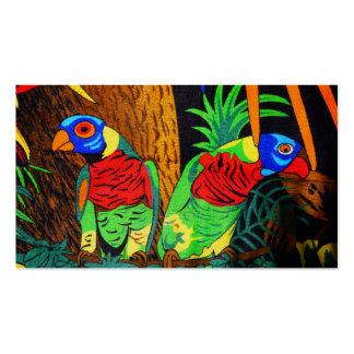 Pares de Parakeets coloridos Tarjetas De Visita