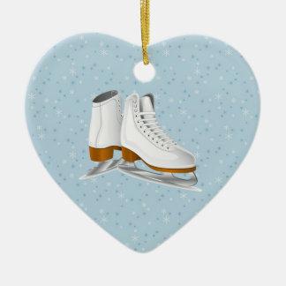 pares de patines de hielo blancos ornamento para reyes magos