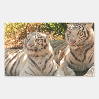 Pares de pegatinas blancos de los tigres rectangular altavoces