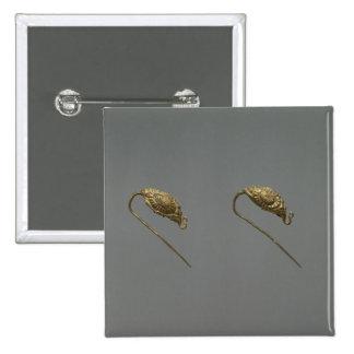 Pares de pendientes del oro, dinastía de Liao Pin Cuadrado