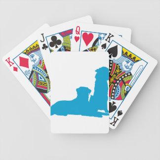 Pares de perros baraja de cartas