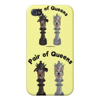 Pares de perros del ajedrez del Queens iPhone 4 Cobertura