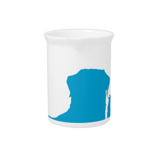 Pares de perros jarras para bebida