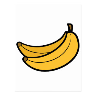 Pares de plátanos del dibujo animado postal