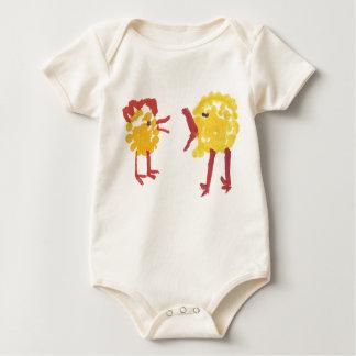 Pares de pollos mameluco de bebé