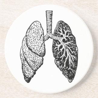 pares de práctico de costa de los pulmones posavasos personalizados