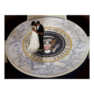 PARES de presidente Obama FIRST, PRIMERA DANZA Posters