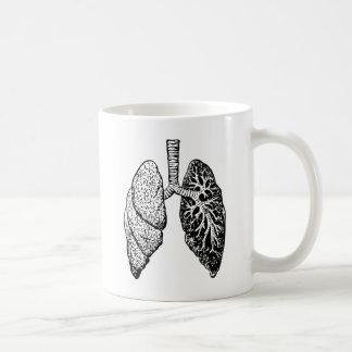 pares de pulmones taza de café