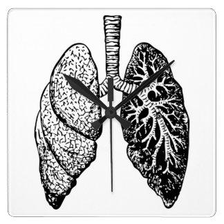 pares de reloj de los pulmones