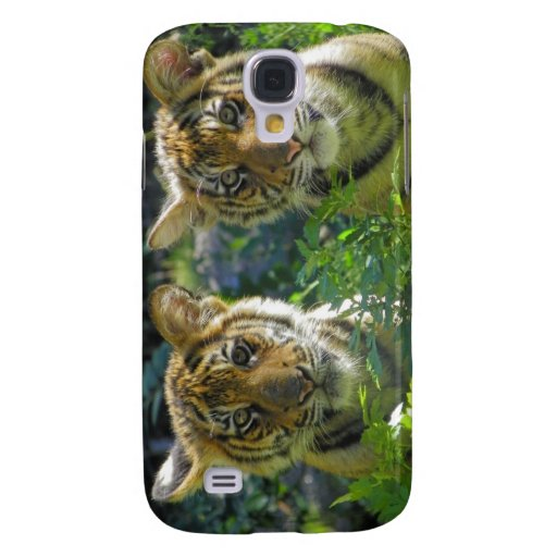 Pares de retrato de Cubs de tigre Funda Para Galaxy S4