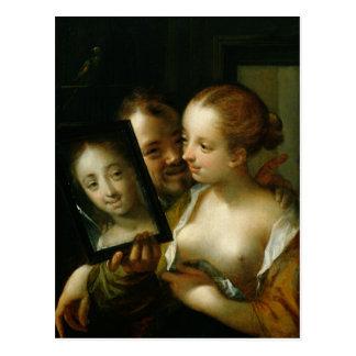 Pares de risa con un espejo, 1596 tarjetas postales