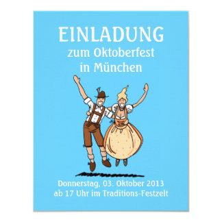"""Pares de salto de Oktoberfest Munich de la Invitación 4.25"""" X 5.5"""""""