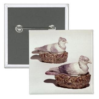 Pares de soperas de la cerámica de Staffordshire Pin Cuadrado